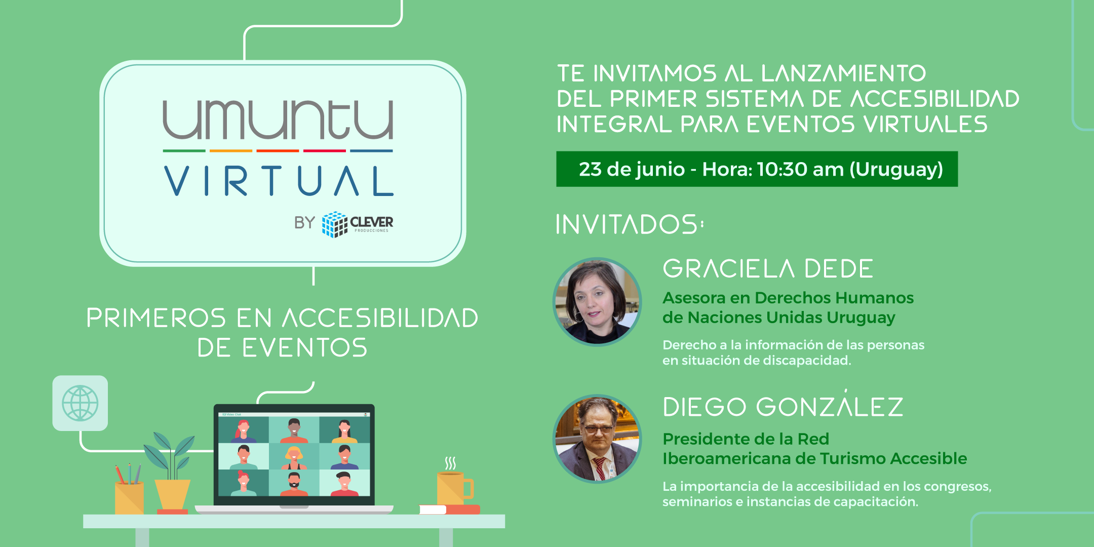 Invitación evento lanvamiento Umuntu virtual by Clever