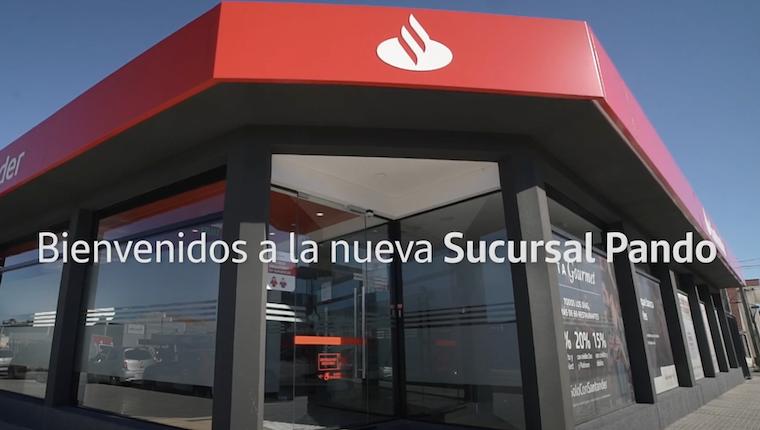 Facha de sucursal Pando Banco Santander